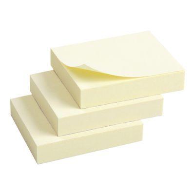Блок бумаги с клейким слоем 50x40 мм, 100 листов, 3 шт. в полибеге