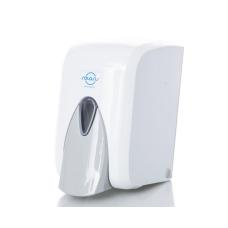Дозатор для мыла-пены, 0,5 л, кнопочный, белый Solaris