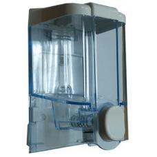 Дозатор жидкого мыла 0,5 л, кнопочный, белый Solaris