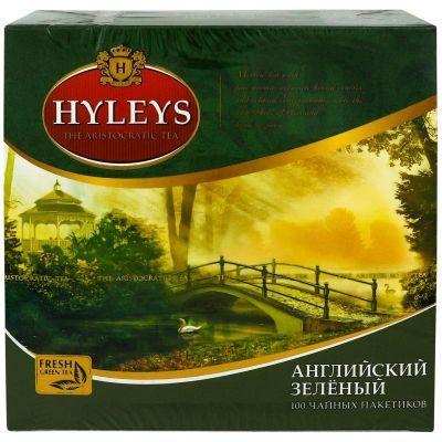 Чай зеленый в пакетиках Hyleys Английский зеленый чай 100 шт х 2 г