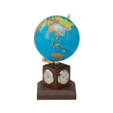 Глобус 10,6 см BLUE на дер.,подставке метеостанция, орех