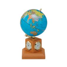 Глобус 10,6 см BLUE на дер. подставке метеостанция, светлая вишня