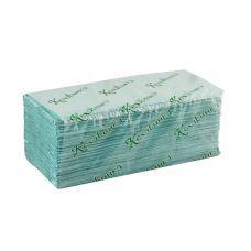 Полотенца бумажные V-образные 200шт. зеленые, Кохавинка