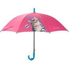 Зонтик Kite детский R20-2001, полуавтомат, трость, пластиковая ручка, 8 спиц, диаметр купола 86 см, свисток