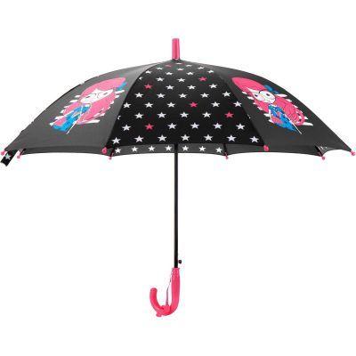Зонтик Kite детский K20-2001-1, полуавтомат, трость, пластиковая ручка, 8 спиц, диаметр купола 86 см, свисток