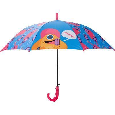 Зонтик Kite детский K20-2001-2, полуавтомат, трость, пластиковая ручка, 8 спиц, диаметр купола 86 см, свисток