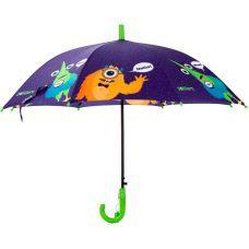 Зонтик Kite детский K20-2001-3, полуавтомат, трость, пластиковая ручка, 8 спиц, диаметр купола 86 см, свисток