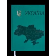 Ежедневник недатированный UKRAINE, A5, зеленый