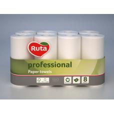 "Полотенца бумажные ""RUTA"" Professional, 8 рул., на гильзе, 2-х сл., белый"