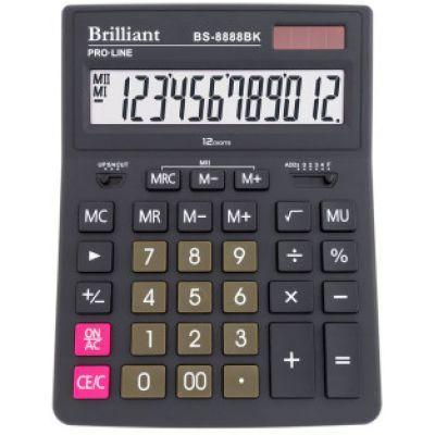Калькулятор BS-8888BK, 12 разрядов 2-питание
