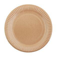 Тарелки бумажные d=23 см ламинированная белая/крафт 100 уп