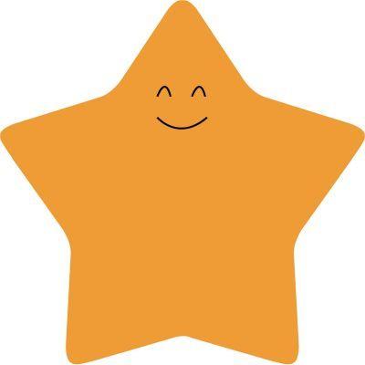 Блок бумаги с липким слоем, Star, 70х70 мм, 50 л, оранжевый