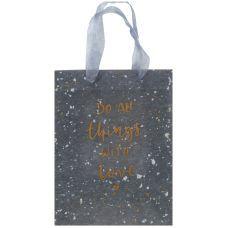 Пакет пластиковый подарочный 25х19x8.5см, Shade Gray