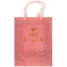 Пакет пластиковый подарочный 25х19x8.5см, Shade Coral