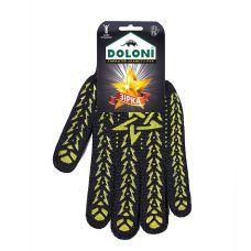 Перчатки трикотажные рабочие ДОЛОНИ, 562, черные со звездой, плотность 5 ниток