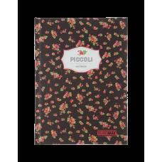 Записная книжка PICCOLI, А5, 80 арк., клетка, интегральная обложка, коричневый