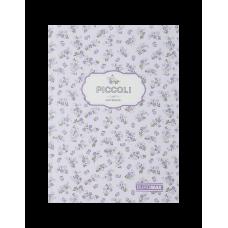 Записная книжка PICCOLI, А5, 80 арк., клетка, интегральная обложка, лавандовый