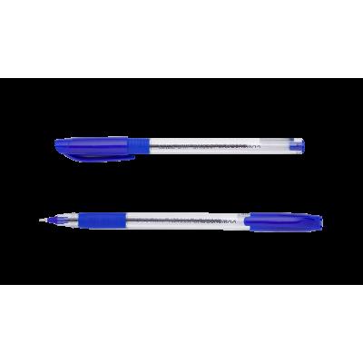 Ручка масляная SLIDE GRIP, 0,5 мм, рез. грип, трехгр.корпус, синие чернила