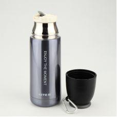 Термос Enjoy серо-фиолетовый перл., 350 мл