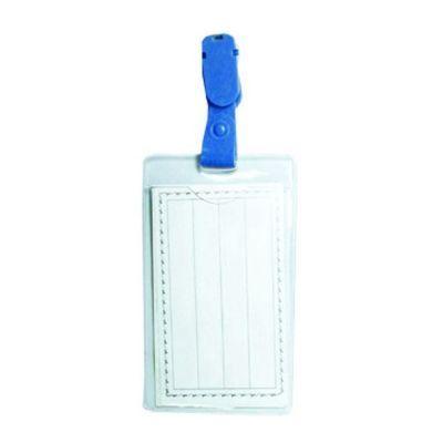 Бейдж вертикальный с зажимом Economix PVC размер 62х91 мм (E41405)
