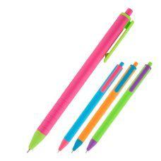 Ручка масляная автоматическая Axent Reporter Color, синяя, 0.7 мм