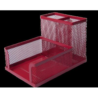 Прибор настольный BUROMAX, металлический, красный