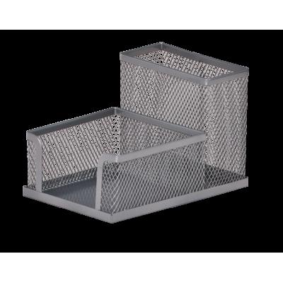 Прибор настольный BUROMAX, металлический, серебристый