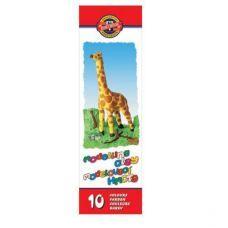 """Пластилин """"Жираф"""", картонная упаковка,, 200г., 10 цветов"""
