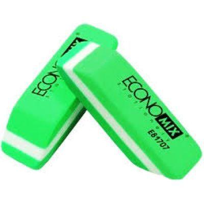 Ластик для карандаша бело-зеленый Economix (E81707)