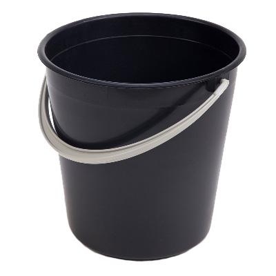 Ведро пластиковое 10л черное (ПГ-1001)