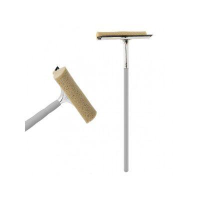 Губка для митья окон с деревянным держаком 60х25см (A20621)