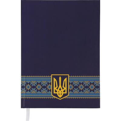 Ежедневник недатированный UKRAINE, A5, 288 стр. темно-синий
