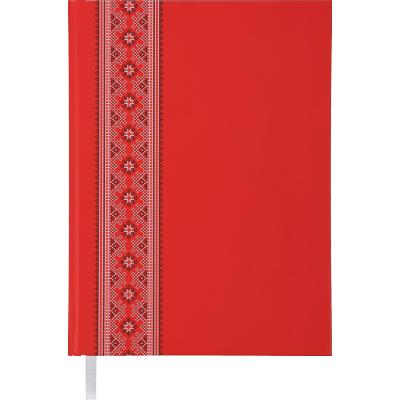 Ежедневник недатированный UKRAINE, A5, красный