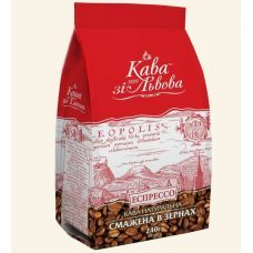 Кофе в зернах Кава зі Львова 250 гр, красная пачка