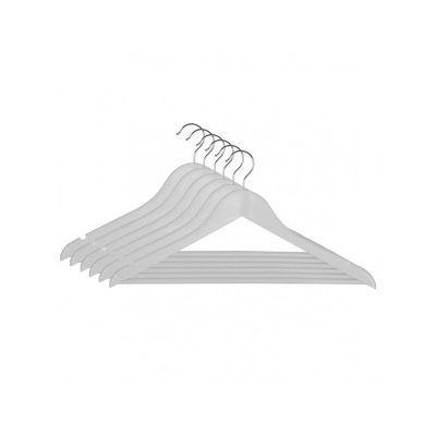 Вешалка EVERYDAY одежная, белая, 44,5 х 23 х 1,2 см (6 шт) (RE05163W/6)