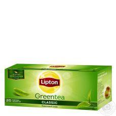 Чай зеленый Lipton Classic, 25х1,7г/уп