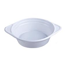 Тарелки одноразовые 500 мл, глубокие, 100шт, белые, плотные