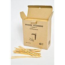 Мешалки к кофе 14 см, 1000 шт, деревянные, картон упаковка