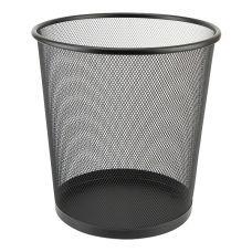 Корзина для бумаг 260x280мм металлическая черный
