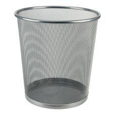 Корзина для бумаг 260x280мм металлическая серебро