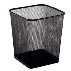 Корзина для бумаг 10л прямоугольная металлическая черный