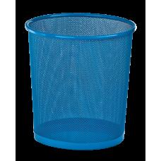 Корзина для бумаг круглая 265x265x280мм металлическая синий