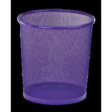 Корзина для бумаг круглая 265x265x280мм металлическая фиолетовый