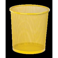 Корзина для бумаг круглая 265x265x280мм металлическая желтый