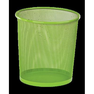 Корзина для бумаг круглая 265x265x280мм металлическая салатовый (ZB.3126-15)
