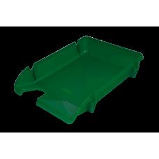 Лоток для бумаг горизонтальный Компакт JOBMAX непрозрачный зеленый