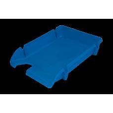 Лоток для бумаг горизонтальный Компакт JOBMAX непрозрачный голубой