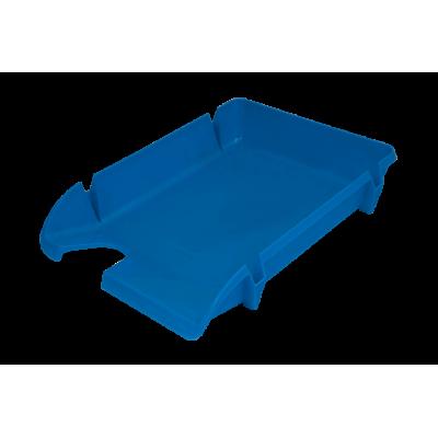 Лоток для бумаг горизонтальный Компакт JOBMAX непрозрачный голубой (80599)