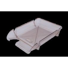 Лоток для бумаг горизонтальный Компакт JOBMAX дымчатый