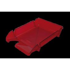 Лоток для бумаг горизонтальный Компакт JOBMAX багряный